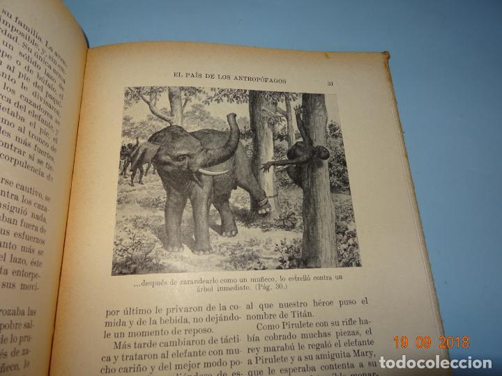 Libros antiguos: EL PAIS DE LOS ANTROPÓFAGOS de 1934 Editorial Ramon Sopena BIBLIOTECA PARA NIÑOS - Foto 2 - 133867514