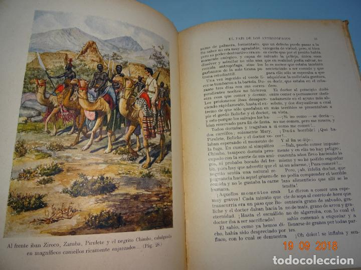 Libros antiguos: EL PAIS DE LOS ANTROPÓFAGOS de 1934 Editorial Ramon Sopena BIBLIOTECA PARA NIÑOS - Foto 4 - 133867514