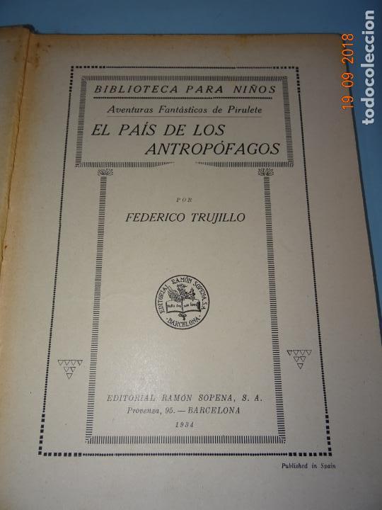 Libros antiguos: EL PAIS DE LOS ANTROPÓFAGOS de 1934 Editorial Ramon Sopena BIBLIOTECA PARA NIÑOS - Foto 8 - 133867514
