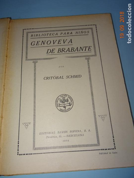 Libros antiguos: GENOVEVA DE BRABANTE 1ª Edición de 1934 Editorial Ramon Sopena BIBLIOTECA PARA NIÑOS - Foto 6 - 133867806