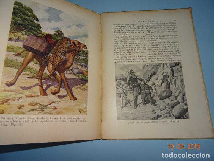 Libros antiguos: LA ISLA DESCONOCIDA 1ª Edición de 1934 Editorial Ramón Sopena BIBLIOTECA PARA NIÑOS - Foto 3 - 133867974