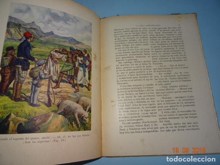Libros antiguos: LA ISLA DESCONOCIDA 1ª Edición de 1934 Editorial Ramón Sopena BIBLIOTECA PARA NIÑOS - Foto 4 - 133867974