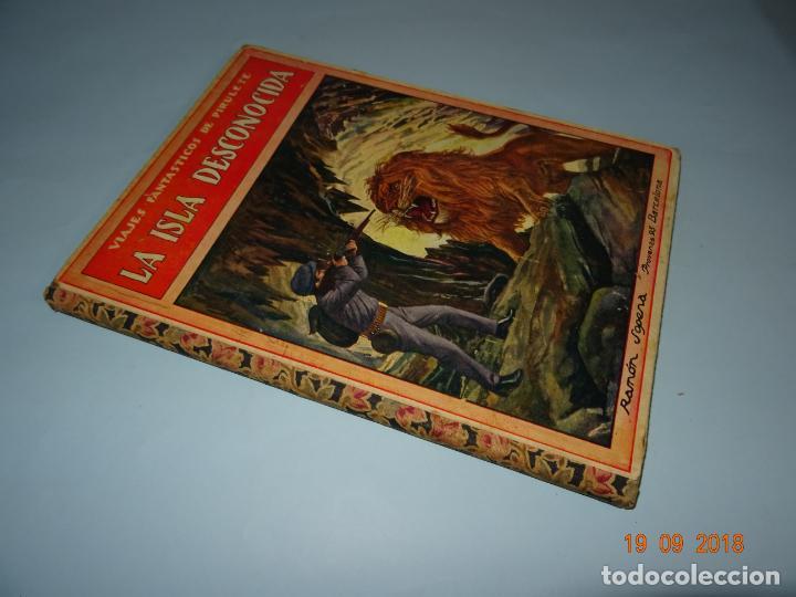 Libros antiguos: LA ISLA DESCONOCIDA 1ª Edición de 1934 Editorial Ramón Sopena BIBLIOTECA PARA NIÑOS - Foto 5 - 133867974