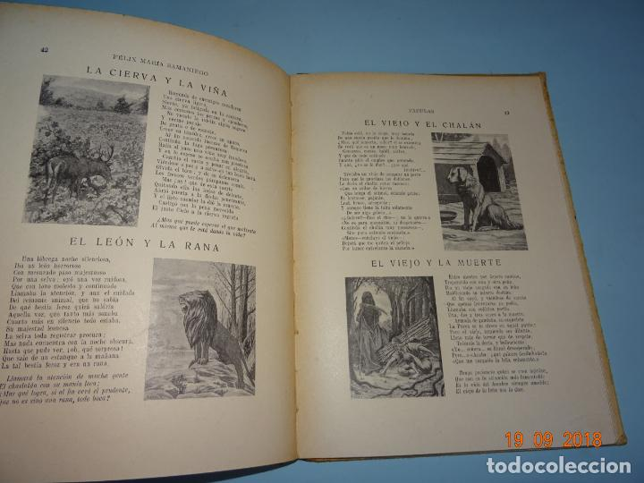 Libros antiguos: FÁBULAS DE SAMANIEGO 1ª Edición de 1934 Editorial Ramón Sopena BIBLIOTECA PARA NIÑOS - Foto 2 - 133927334