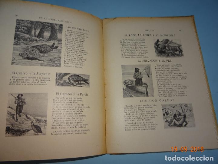 Libros antiguos: FÁBULAS DE SAMANIEGO 1ª Edición de 1934 Editorial Ramón Sopena BIBLIOTECA PARA NIÑOS - Foto 3 - 133927334