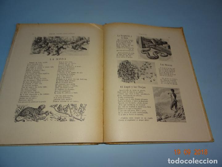 Libros antiguos: FÁBULAS DE SAMANIEGO 1ª Edición de 1934 Editorial Ramón Sopena BIBLIOTECA PARA NIÑOS - Foto 4 - 133927334