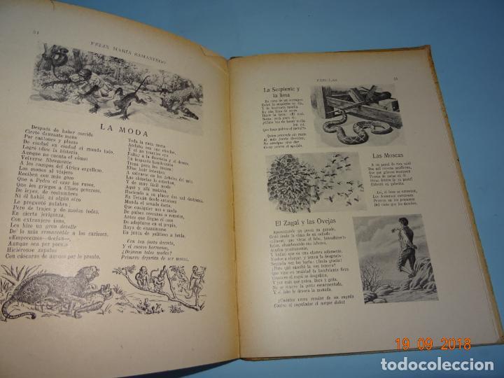 Libros antiguos: FÁBULAS DE SAMANIEGO 1ª Edición de 1934 Editorial Ramón Sopena BIBLIOTECA PARA NIÑOS - Foto 5 - 133927334