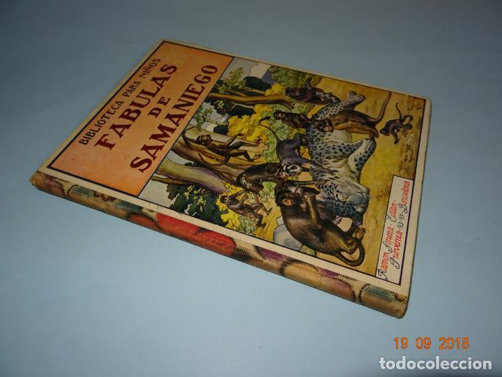 Libros antiguos: FÁBULAS DE SAMANIEGO 1ª Edición de 1934 Editorial Ramón Sopena BIBLIOTECA PARA NIÑOS - Foto 6 - 133927334