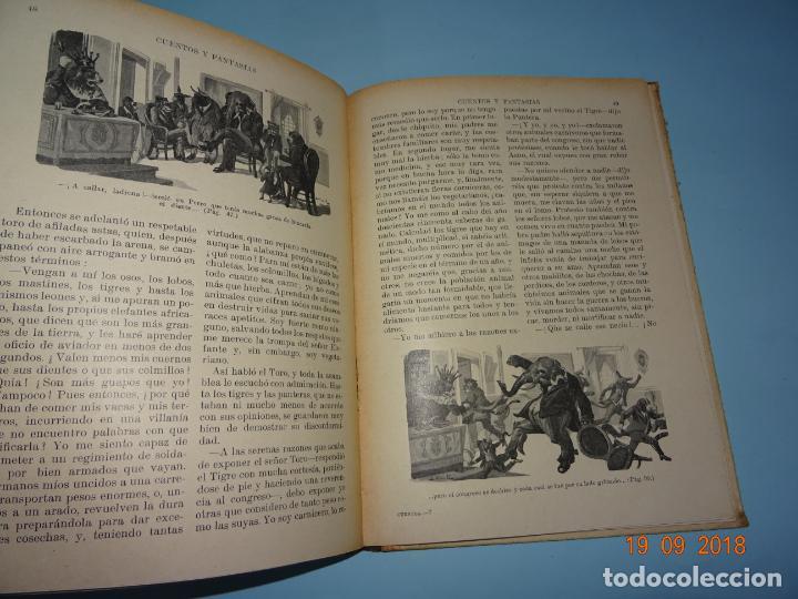 Libros antiguos: CUENOS Y FANTASIAS de 1931 Editorial Ramón Sopena BIBLIOTECA PARA NIÑOS - Foto 2 - 133934146
