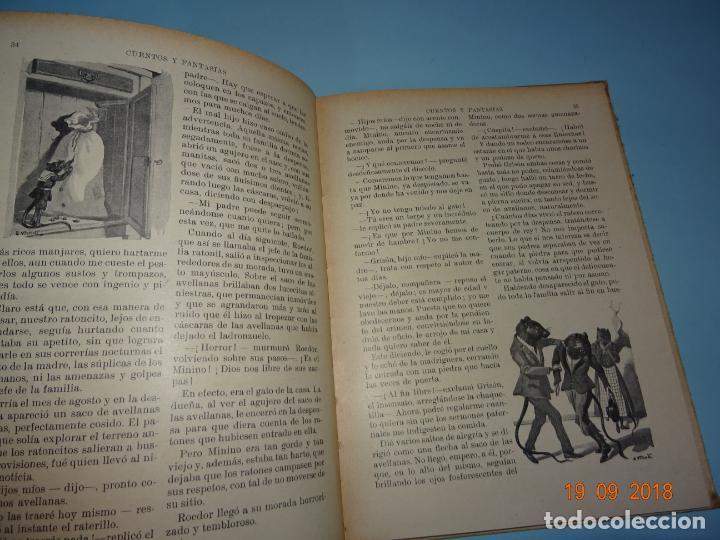 Libros antiguos: CUENOS Y FANTASIAS de 1931 Editorial Ramón Sopena BIBLIOTECA PARA NIÑOS - Foto 4 - 133934146