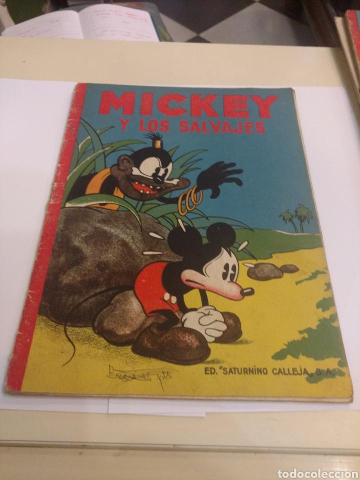 MICKEY Y LOS SALVAJES.ED. SATURNINO CALLEJA. (Libros Antiguos, Raros y Curiosos - Literatura Infantil y Juvenil - Cuentos)