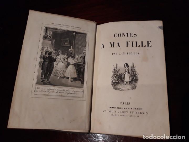 CONTES A MA FILLE - J.N.BOUILLY - SIGLO XIX - ILUSTRADO CON BONITOS GRABADOS. (Libros Antiguos, Raros y Curiosos - Literatura Infantil y Juvenil - Cuentos)