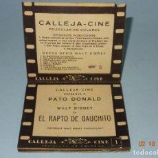 Libros antiguos: EL RAPTO DE GAUCHITO DE WALT DISNEY COLECCIÓN PELÍCULAS EN COLORES DESPLEGABLE DE SATURNINO CALLEJA. Lote 135165522
