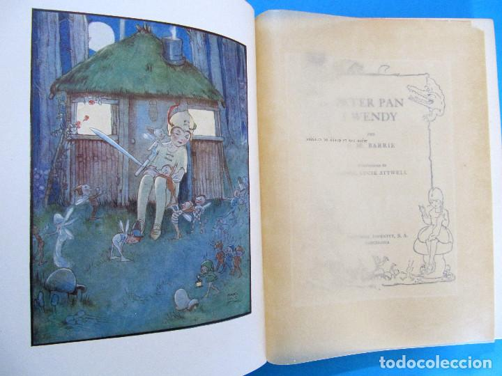 Libros antiguos: PETER PAN I WENDY. J. M. BARRIE. IL.L MABEL LUCIE ATTWELL 1ª EDICIÓ EN CATALÀ. ED. JOVENTUT, 1935. - Foto 3 - 135415098