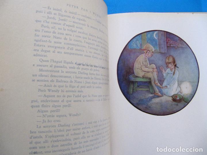 Libros antiguos: PETER PAN I WENDY. J. M. BARRIE. IL.L MABEL LUCIE ATTWELL 1ª EDICIÓ EN CATALÀ. ED. JOVENTUT, 1935. - Foto 6 - 135415098