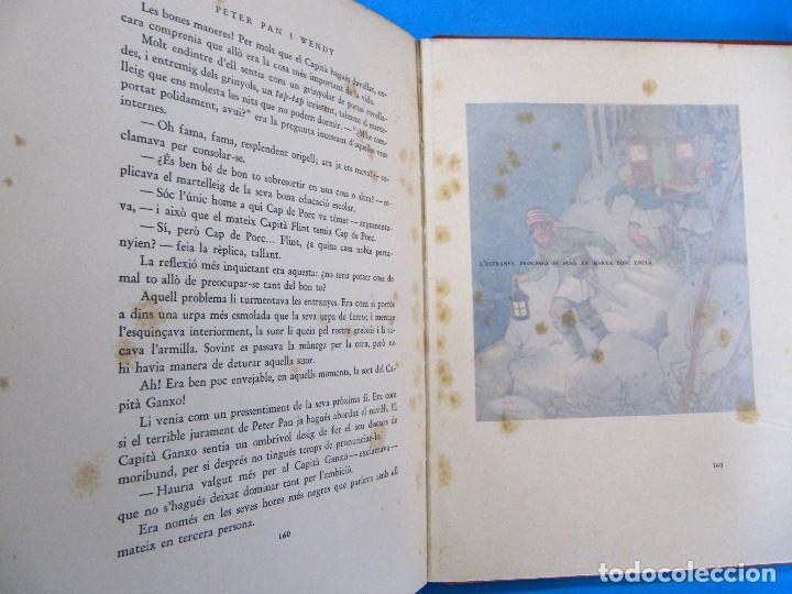 Libros antiguos: PETER PAN I WENDY. J. M. BARRIE. IL.L MABEL LUCIE ATTWELL 1ª EDICIÓ EN CATALÀ. ED. JOVENTUT, 1935. - Foto 7 - 135415098