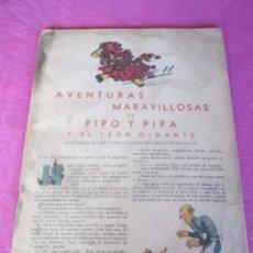Livros antigos: AVENTURAS MARAVILLOSAS DE PIPO Y PIPA,Y EL LEON GIGANTE,TEXTO Y DIBUJOS DE SALVADOR BARTOLOZZI. Lote 135667427