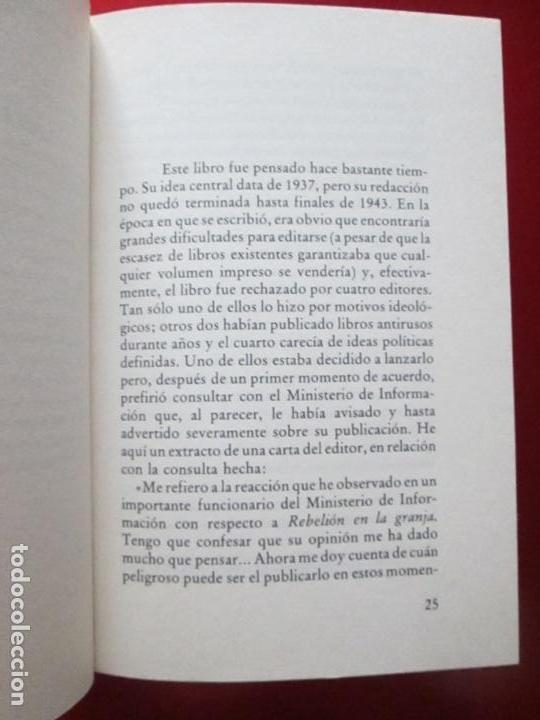Libros antiguos: LIBRO-REBELIÓN EN LA GRANJA-GEORGE ORWELL-1984-CÍRCULO DE LECTORES-VER FOTOS - Foto 8 - 136151594