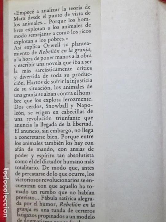 Libros antiguos: LIBRO-REBELIÓN EN LA GRANJA-GEORGE ORWELL-1984-CÍRCULO DE LECTORES-VER FOTOS - Foto 9 - 136151594