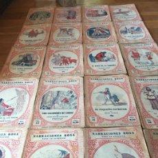 Libros antiguos: ANTIGUO LOTE DE CUENTOS - DEL 1 AL 20 - AÑOS 30. 1A EDIC. NARRACIONES ROSA PARA LA JUVENTUD. LEER.... Lote 137293774