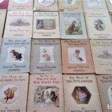 Libros antiguos: LOTE 24 ANTIGUOS CUENTOS INFANTILES BRITANICOS DE BEATRIX POTTER,FECHADOS AÑOS 1900,DIBUJOS ANIMALES. Lote 137757622