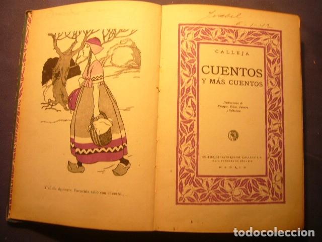 Libros antiguos: CALLEJA: - CUENTOS Y MAS CUENTOS - (MADRID, SATURNINO CALLEJA) - Foto 3 - 138569586