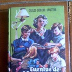 Libros antiguos: LIBRO DE CARLOS DICKENS CUENTOS DE NAVIDAD EDITORIAL MATEU ILUSTRADO. Lote 138756786
