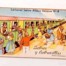 Libros antiguos: ALBUM RELIEVE Nº4 - LIEBRES Y LIEBRECILLAS - CON DIORAMAS - EDITORIAL SELVA. Lote 139511602