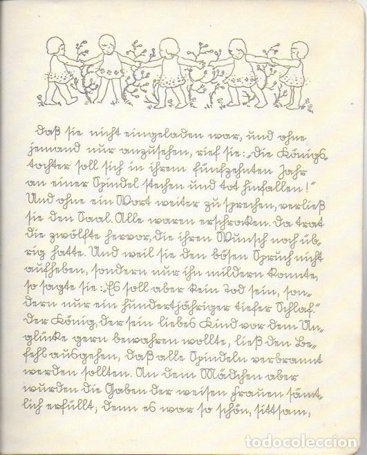 Libros antiguos: Dornrösche. ( Bella durmiente ). Mainz : Jof. Soholz, 193? 22x18 cm. 16 p. - Foto 4 - 141035338