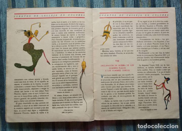 Libros antiguos: CUENTOS CALLEJA COLORES-PINOCHO CONTRA CHAPETE Nº 11: EN PAIS DE LOS HOMBRES FLACOS-BARTOLOZZI-1930 - Foto 3 - 141820230