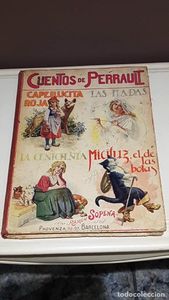 CUENTOS DE PERRAULT BIBLIOTECA PARA NIÑOS E. SOPENA AÑO 1937 (Libros Antiguos, Raros y Curiosos - Literatura Infantil y Juvenil - Cuentos)