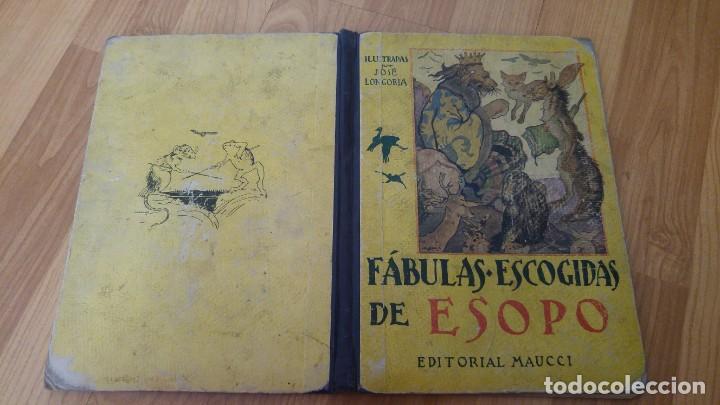 FABULAS ESCOGIDAS DE ESOPO - EDICIONES MAUCCI - 24, 5 X 19, 5 CMS. - 46 PAGINAS -NO PONE AÑO-. (Libros Antiguos, Raros y Curiosos - Literatura Infantil y Juvenil - Cuentos)