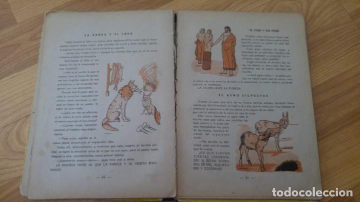 Libros antiguos: fabulas escogidas de esopo - ediciones maucci - 24, 5 x 19, 5 cms. - 46 paginas -no pone año-. - Foto 4 - 142707062