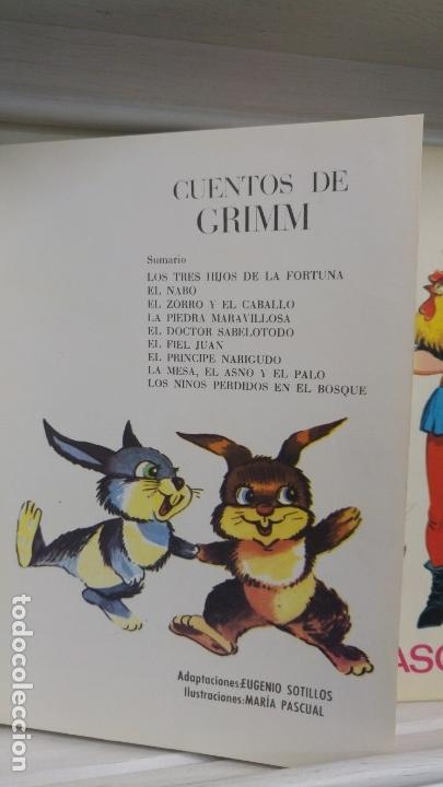 Libros antiguos: Cuentos de Grimm (Cuarta Seleccion) Ilustraciones Maria Pascual - Foto 3 - 143430522