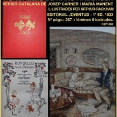 Libros antiguos: PCBROS - RONDALLES D'ANDERSEN - ED. JUVENTUT - 1933 - 1ª ED. - VERSIÓ CATALANA - HANS ANDERSEN. Lote 143653070