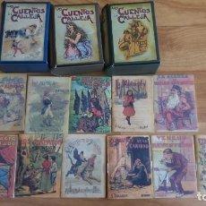 Libros antiguos: LOS CUENTOS DE CALLEJA-TRES CAJAS -36 CUENTOS-A UNA DE ELLAS NO LE PERTENECE LOS TITULOS DE LOS CUEN. Lote 143900318