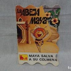 Libros antiguos: CUENTO TROQUELADO LA ABEJA MAYA - MAYA SALVA A SU COLMENA - N° 8 - BRUGUERA AÑO 1978. Lote 145149394