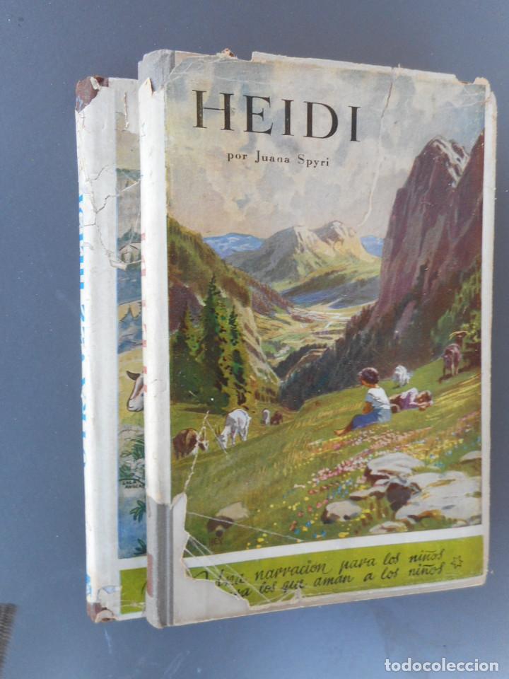 HEIDI Y OTRA VEZ HEIDI , JUVENTUD 1941, 1942 (Libros Antiguos, Raros y Curiosos - Literatura Infantil y Juvenil - Cuentos)