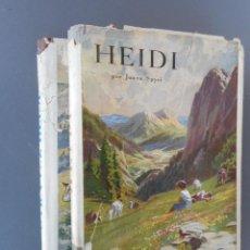 Libros antiguos: HEIDI Y OTRA VEZ HEIDI , JUVENTUD 1941, 1942. Lote 145771430