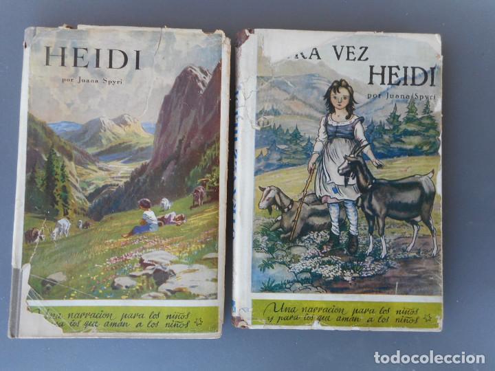 Libros antiguos: Heidi y Otra vez Heidi , Juventud 1941, 1942 - Foto 2 - 145771430