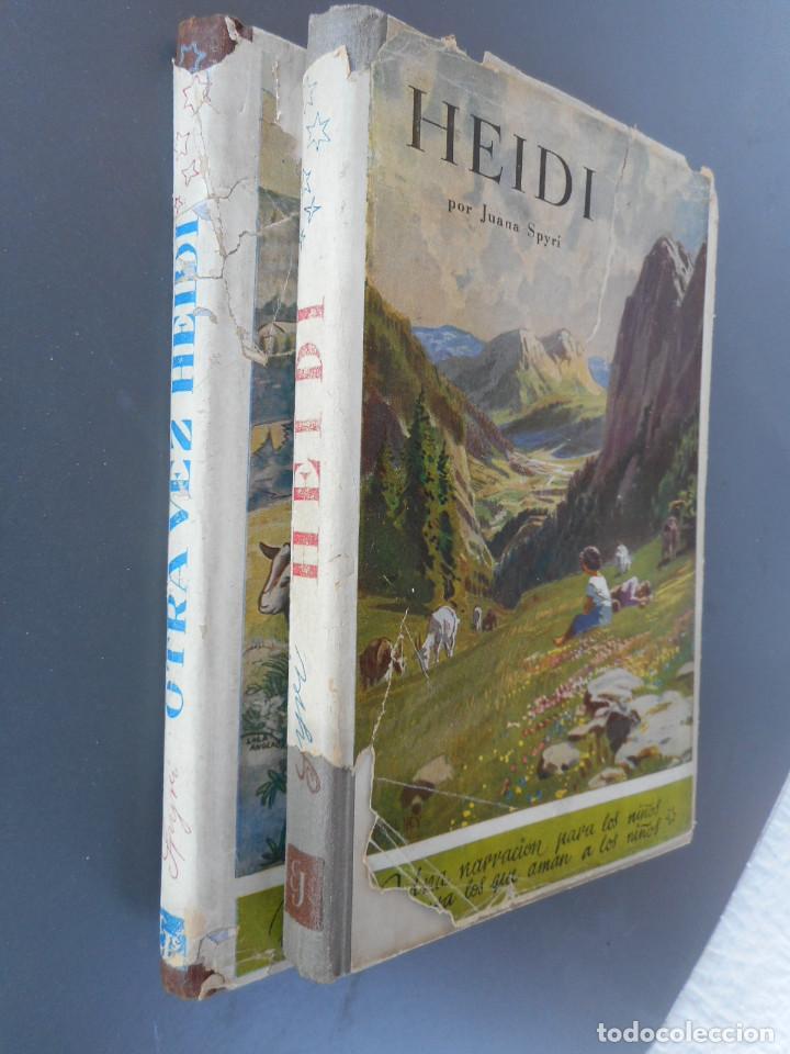 Libros antiguos: Heidi y Otra vez Heidi , Juventud 1941, 1942 - Foto 3 - 145771430