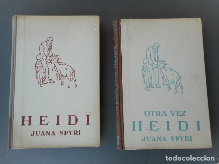Libros antiguos: Heidi y Otra vez Heidi , Juventud 1941, 1942 - Foto 5 - 145771430