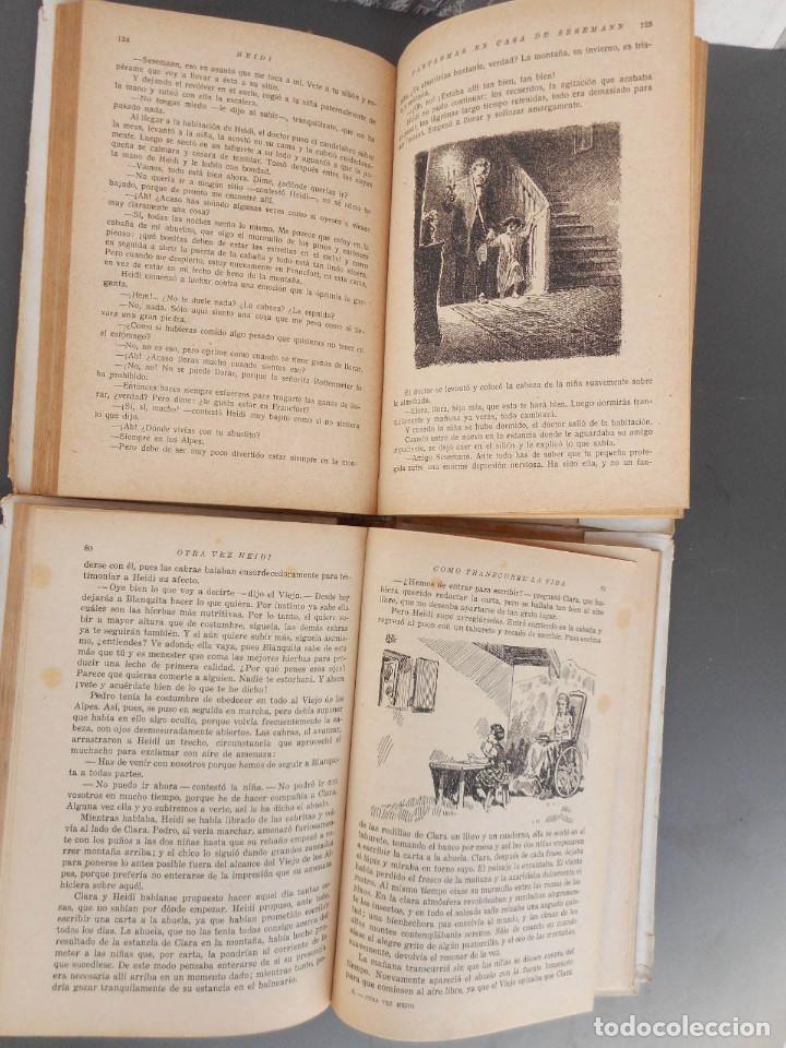 Libros antiguos: Heidi y Otra vez Heidi , Juventud 1941, 1942 - Foto 7 - 145771430