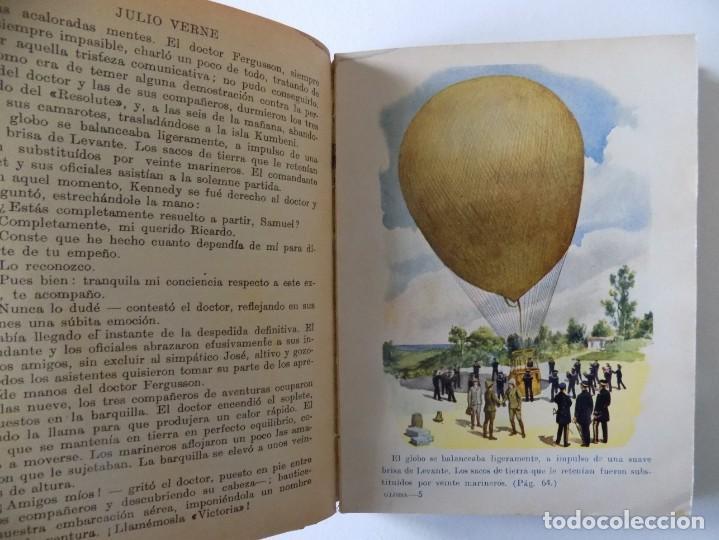 Libros antiguos: LIBRERIA GHOTICA. JULIO VERNE. CINCO SEMANAS EN GLOBO. BIBLIOTECA SELECTA 1934.ILUSTRADO CON LÁMINAS - Foto 2 - 145899830