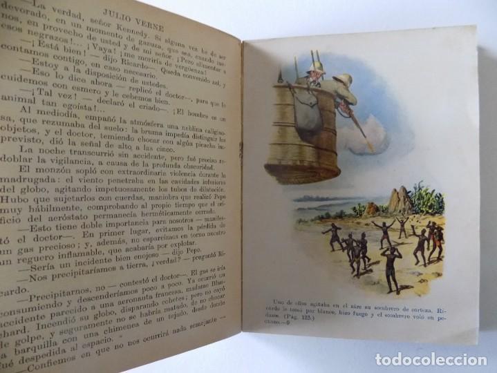 Libros antiguos: LIBRERIA GHOTICA. JULIO VERNE. CINCO SEMANAS EN GLOBO. BIBLIOTECA SELECTA 1934.ILUSTRADO CON LÁMINAS - Foto 3 - 145899830