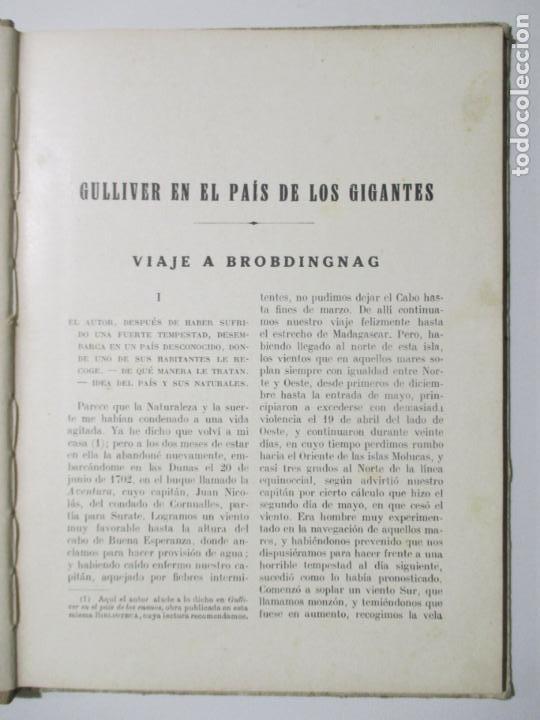 Libros antiguos: BIBLIOTECA PARA NIÑOS. GUILLIVER EN EL PAÍS DE LOS GIGANTES. J. SWIFT. 1935 - Foto 3 - 145901082