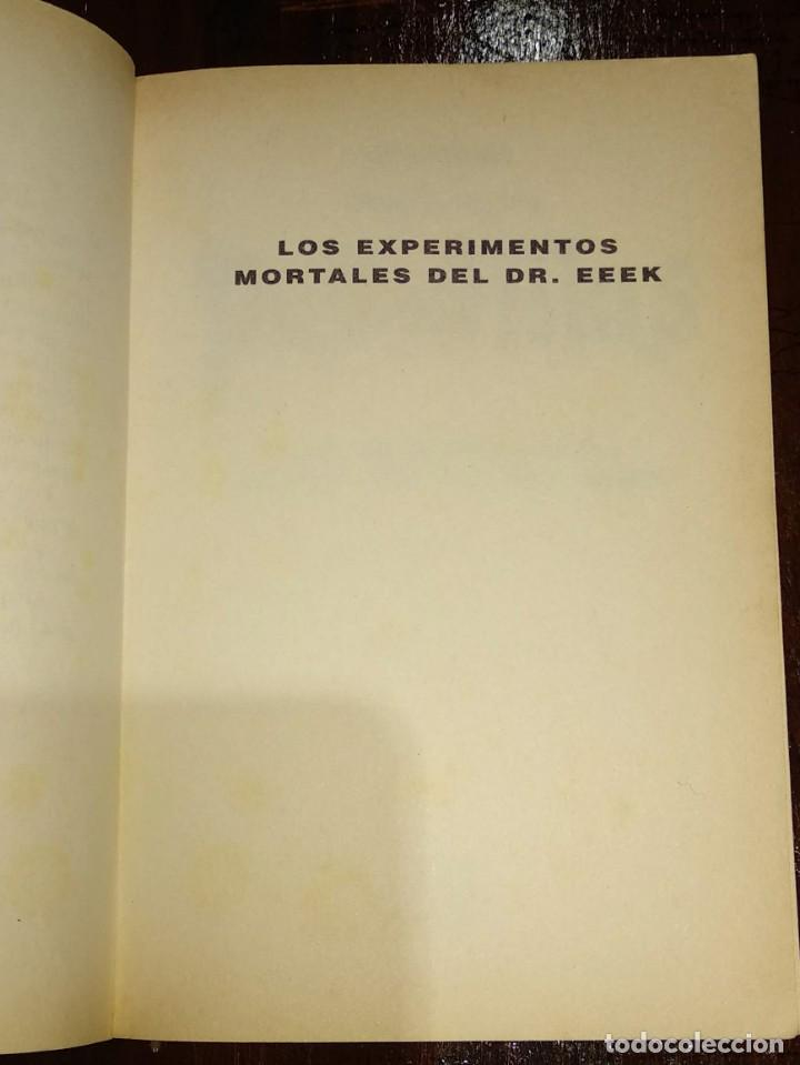 Libros antiguos: EN BUSCA DE TUS PESADILLAS Nº4-LOS EXPERIMENTOS MORTALES DEL DR. EEEK-20 FINALES ELIGE TU AVENTURA - Foto 3 - 146159458