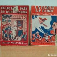 Libros antiguos: LOTE DE 2 EJEMPLARES DE LA COLECCION MARUJIT. Lote 148036150