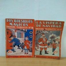 Libros antiguos: LOTE DE 2 CUENTOS DE LA COLECCION MARUJITA DE EDITORIAL MOLINO 1934. Lote 148037650