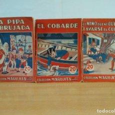 Libros antiguos: LOTE DE 3 CUENTOS DE LA COLECCION MARUJITA DE EDITORIAL MOLINO 1936. Lote 148039518